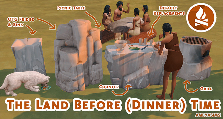 The Land Before (Dinner) Time Set / TS4 CC