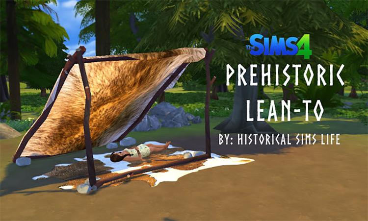 Prehistoric Lean-To / Sims 4 CC