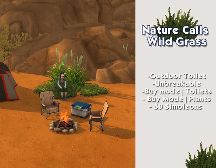 Wild Grass Toilet for The Sims 4