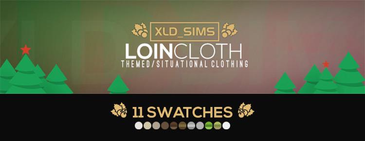 Male Loin Cloth Set Logo / Sims 4 CC