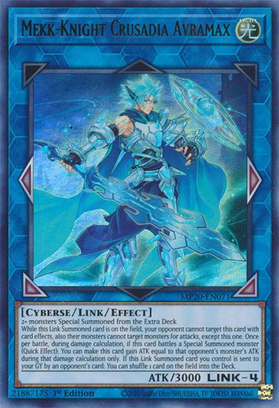 Mekk-Knight Crusadia Avramax Yu-Gi-Oh Card