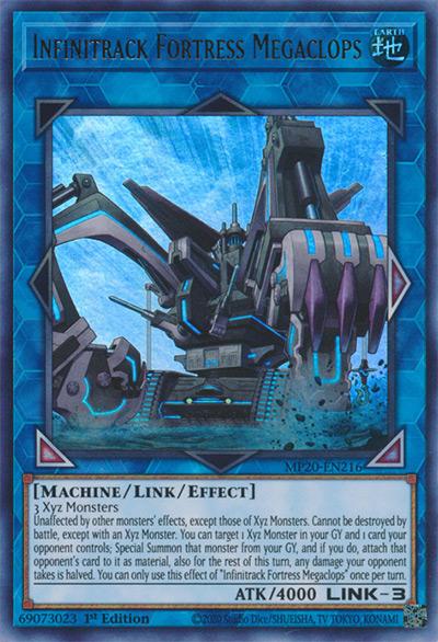Infinitrack Fortress Megaclops YGO Card