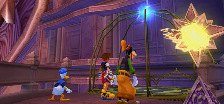 Hollow Bastion with Sora, Donald & Goofy in KH 1.5 HD