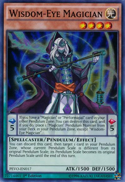 Wisdom Eye Magician YGO Card