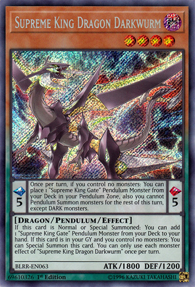 Supreme King Dragon Darkwurm YGO Card