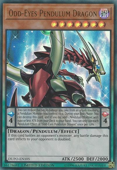 Odd-Eyes Pendulum Dragon YGO Card