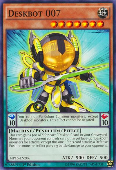 Deskbot 007 Yu-Gi-Oh Card