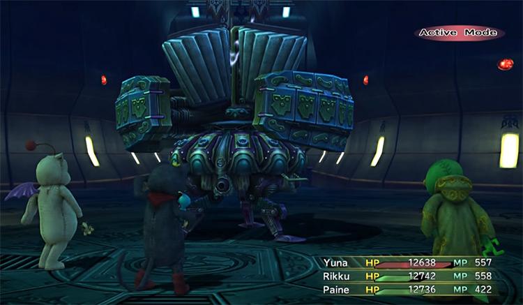 Omega Weapon battle screenshot from FFX-2