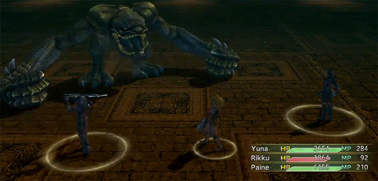 Anything Eater battle in FFX-2
