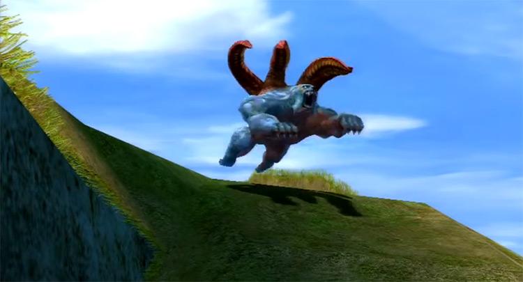 Balivarha creature cutscene in FFX-2