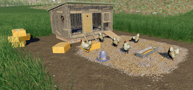 FS19 Chicken Mods: Coops, Feed, Egg Storage & More