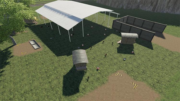 Open Hen House Mod for Farming Simulator 19