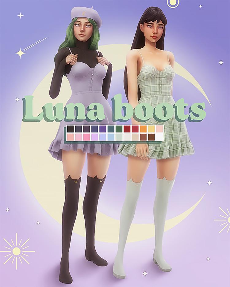 Luna Boots / Sims 4 CC