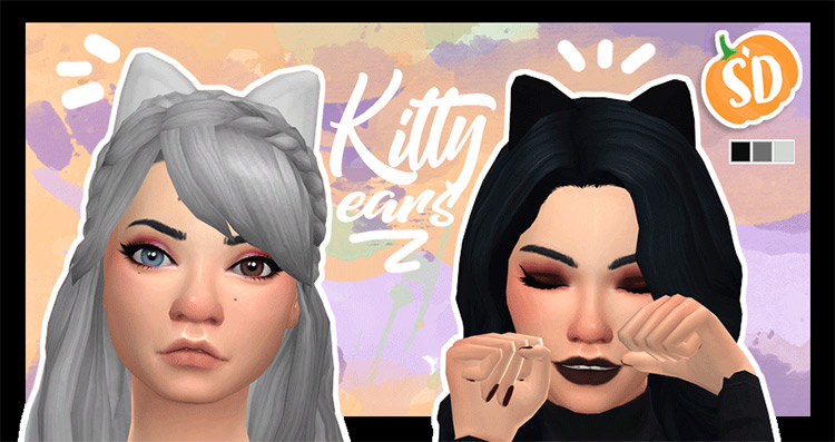 Kitty Ears #2 Set / Sims 4 CC
