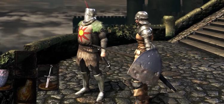 Solaire of Astora NPC in Dark Souls Remastered