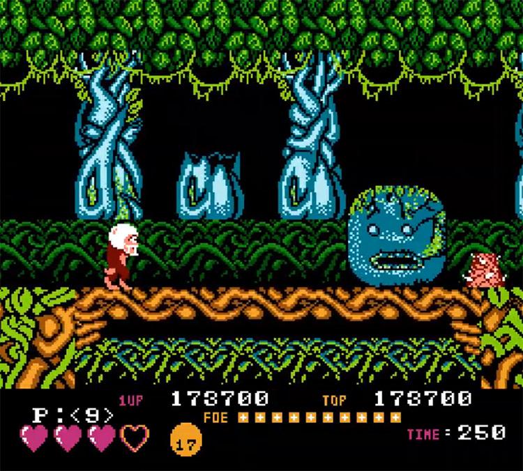 Toki NES gameplay