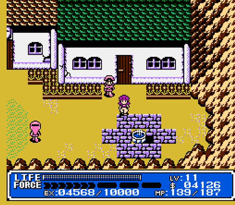 Crystalis / NES gameplay screenshot