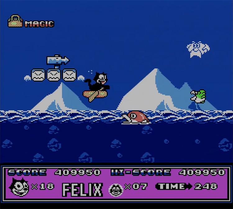 Felix the Cat gameplay NES