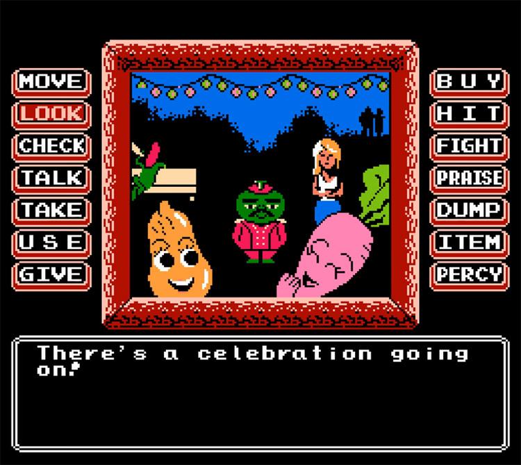 Princess Tomato NES screenshot