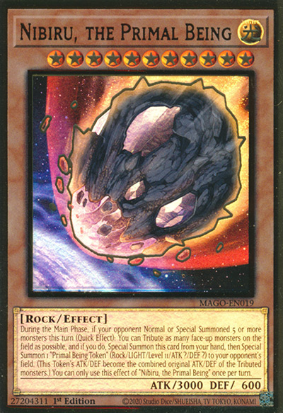 Nibiru the Primal Being YGO Card