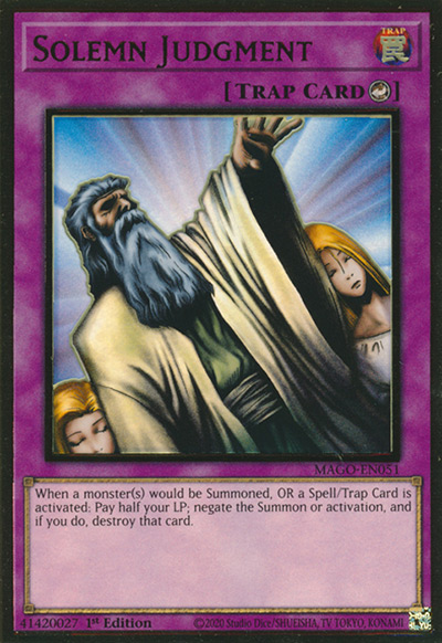 Solemn Judgment Yu-Gi-Oh Card