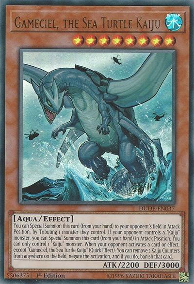 Gameciel the Sea Turtle Kaiju YGO Card