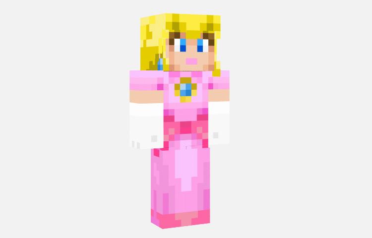 Princess Peach Custom Skin for Minecraft
