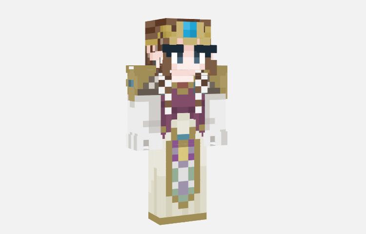 Twilight Princess Zelda Skin for Minecraft