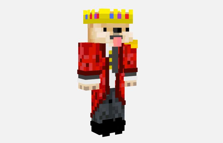 Royal Shiba Dog Prince Skin for Minecraft