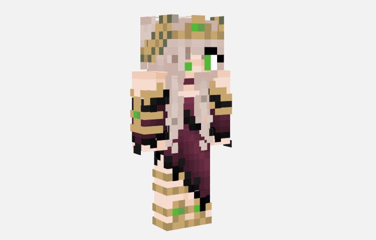 Witch Princess Female Skin for Minecraft