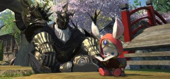 Namingway Minion reading in Final Fantasy XIV