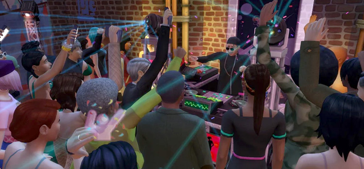 Sims 4 Rave with Bigger Parties Mod