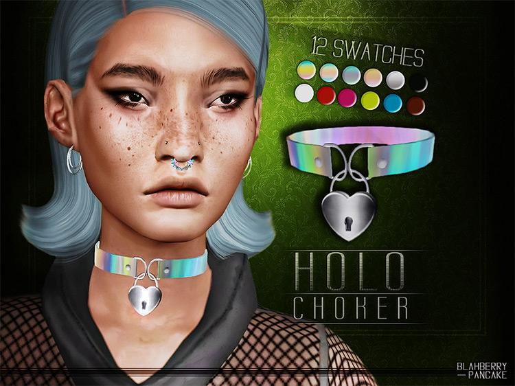 Holo Choker / Sims 4 CC