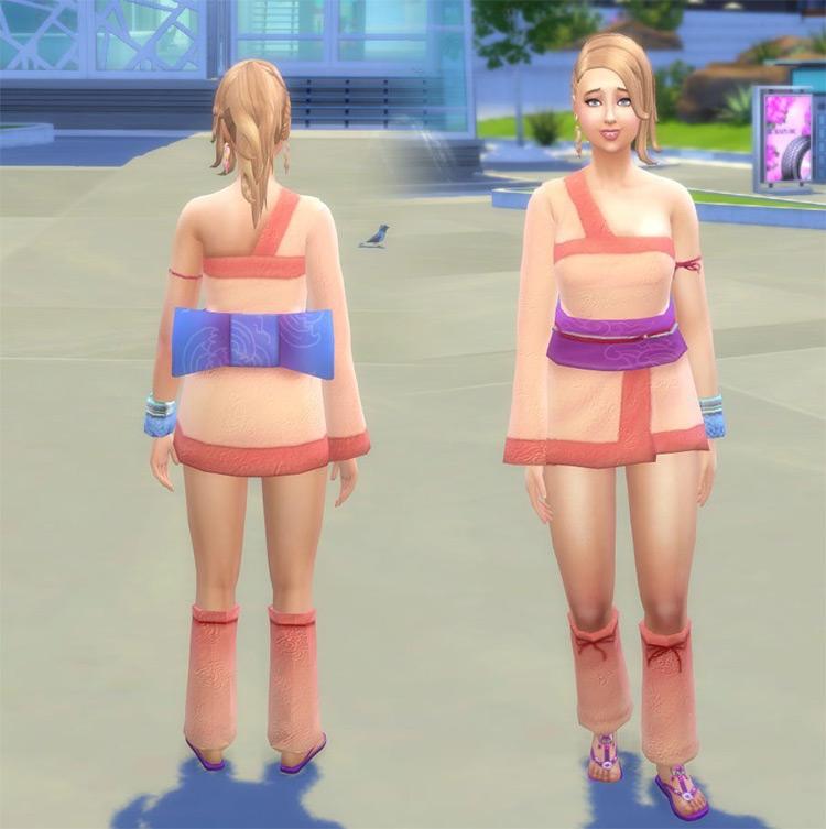 Rave Kimono Conversion for The Sims 4