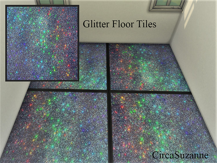 Galaxy Glitter Floor Tiles / TS4 CC