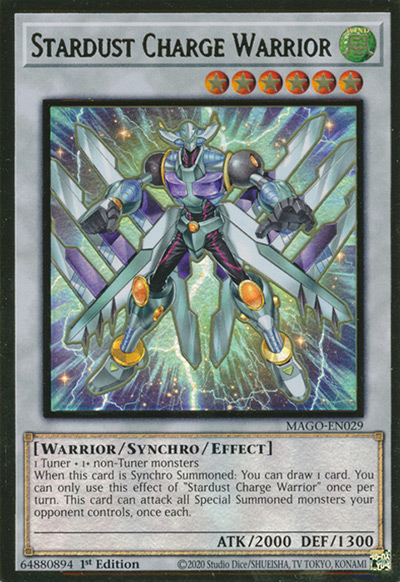 Stardust Charge Warrior YGO Card