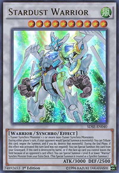 Stardust Warrior Yu-Gi-Oh Card