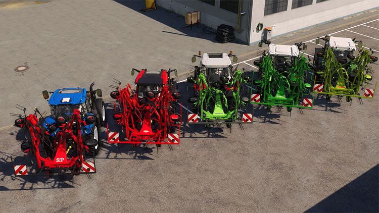 Tedders Addon Mod for Farming Simulator 19