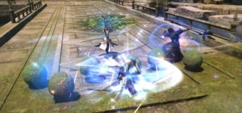 Battle screenshot in Temple of the Fists / FFXIV