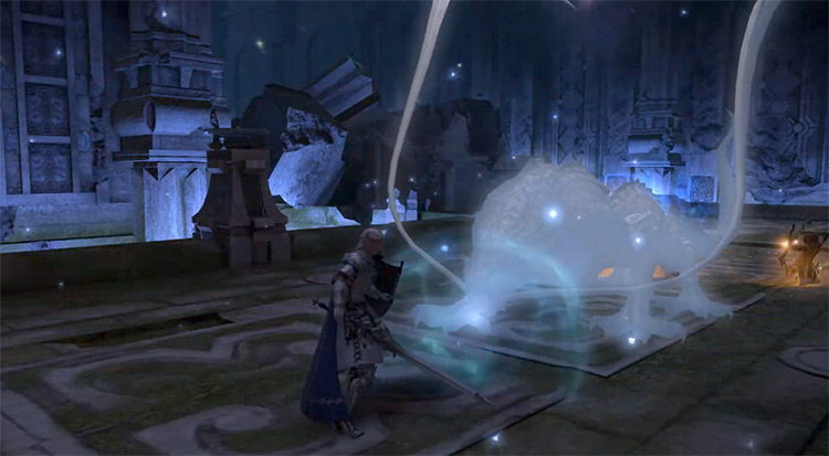 Battle inside Temple of the Fists / FFXIV