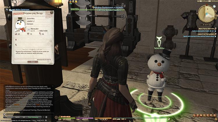 Snowman Seserikku Lalafell Squadron Recruit / FFXIV screenshot