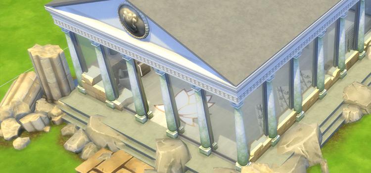 Ancient Roman Temple Custom Lot / Sims 4