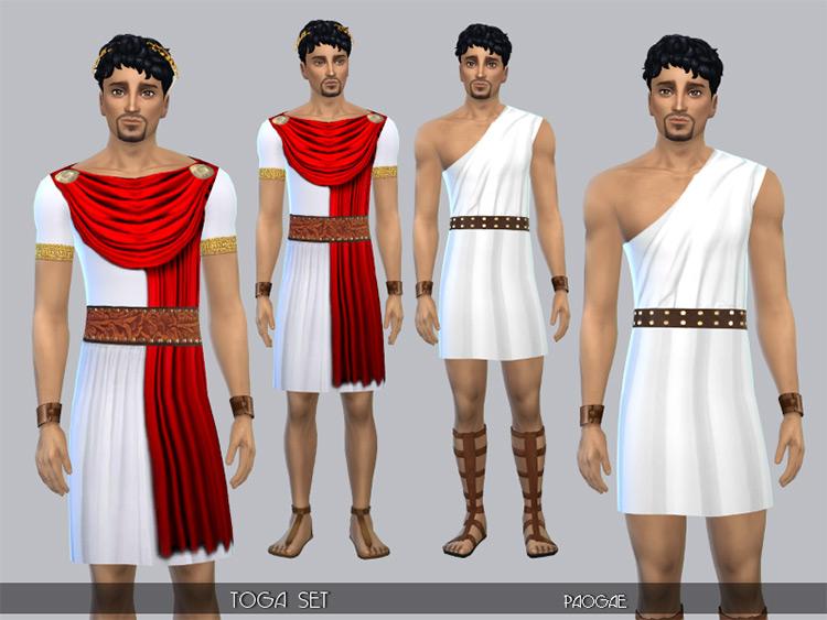 Toga Clothes Set / Sims 4 CC
