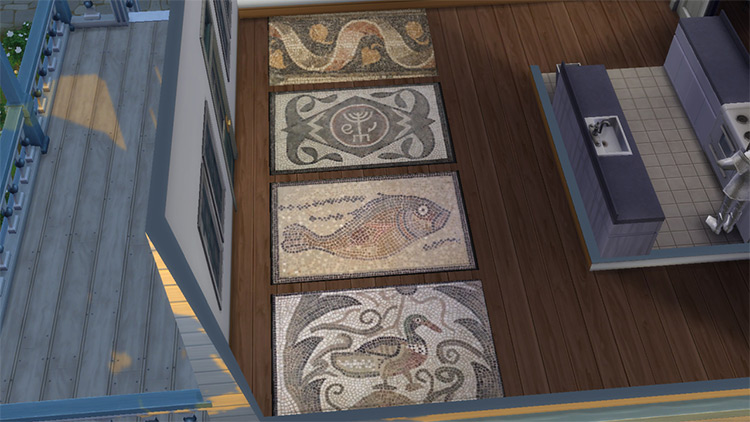 Roman Mosaic Rugs for The Sims 4