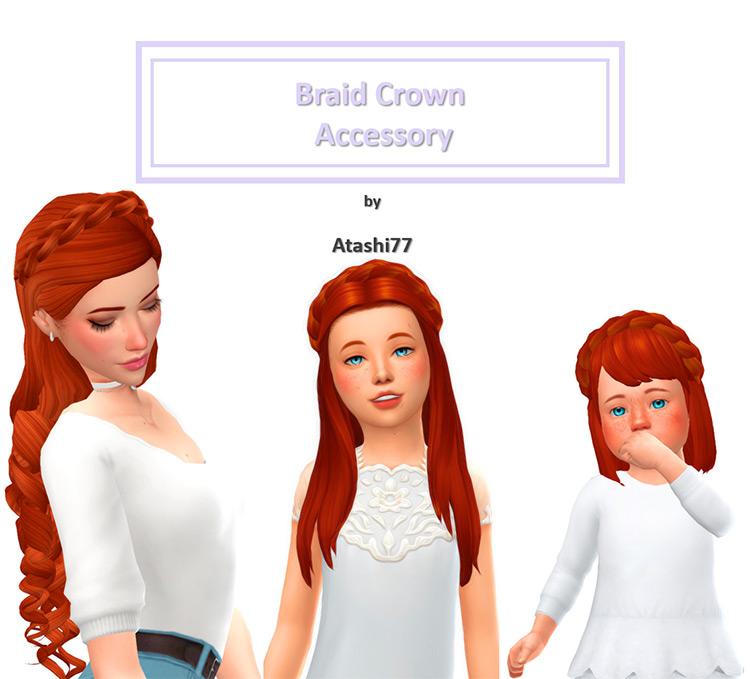 Braid Crown Accessory / TS4 CC