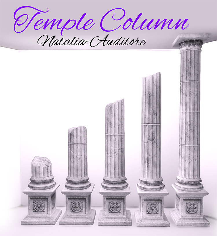 Temple Columns for The Sims 4