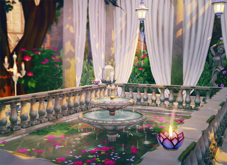 Lotus Pool Build / Sims 4 CC