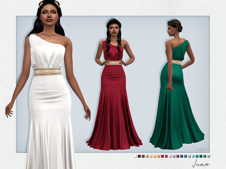 Juno Dress for The Sims 4