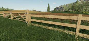 Wooden pasture fencing mod in FS19