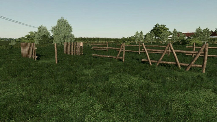 Old Wooden Fence Mod for FS19